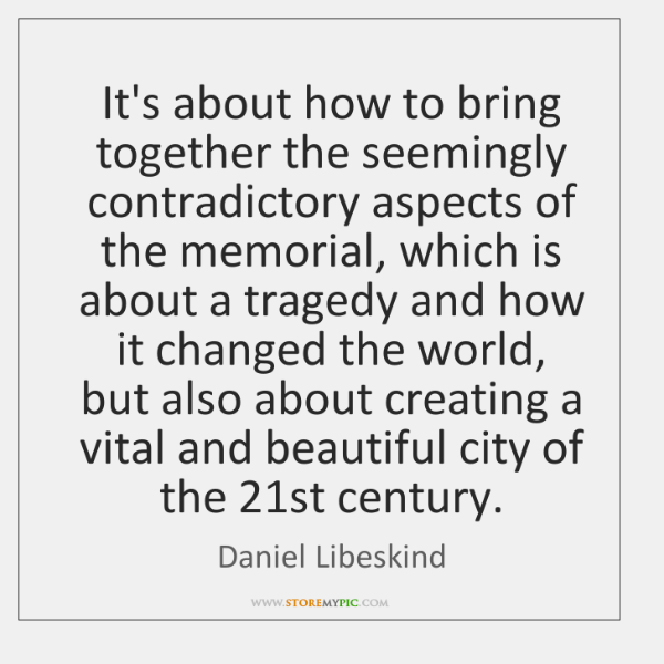 It's about how to bring together the seemingly contradictory aspects of the ...