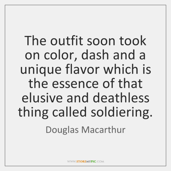 The outfit soon took on color, dash and a unique flavor which ...