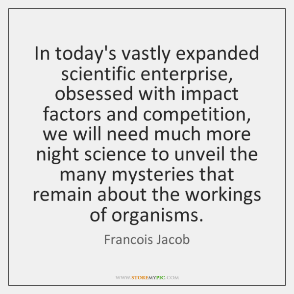 In today's vastly expanded scientific enterprise, obsessed with impact factors and competition, ...