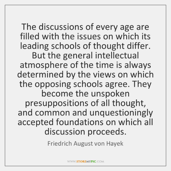 The discussions of every age are filled with the issues on which ...