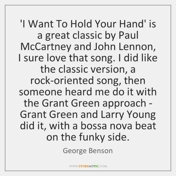 'I Want To Hold Your Hand' is a great classic by Paul ...