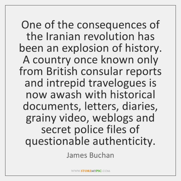 One of the consequences of the Iranian revolution has been an explosion ...