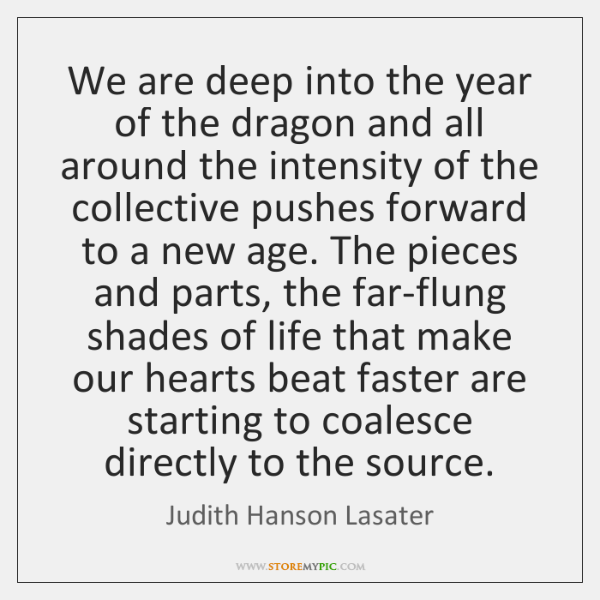 We are deep into the year of the dragon and all around ...