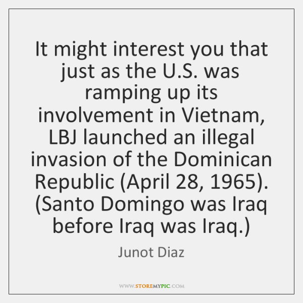 It might interest you that just as the U.S. was ramping ...