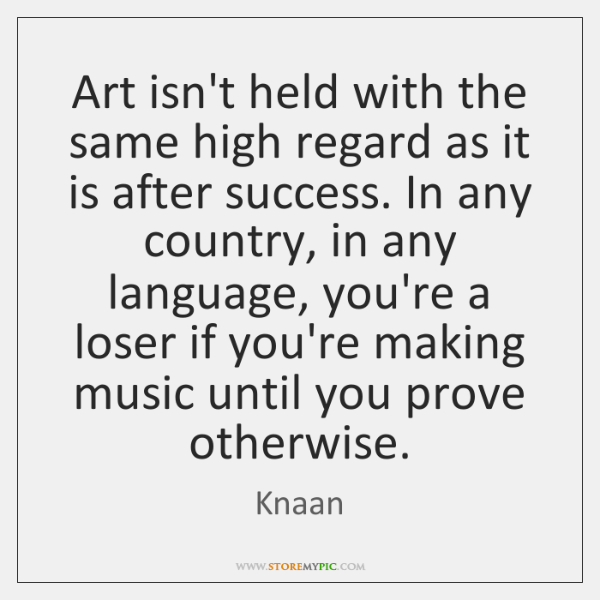 Art isn't held with the same high regard as it is after ...