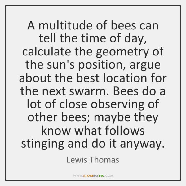 A multitude of bees can tell the time of day, calculate the ...