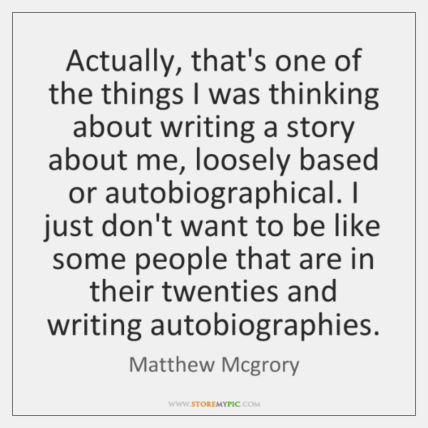 Actually, that's one of the things I was thinking about writing a ...