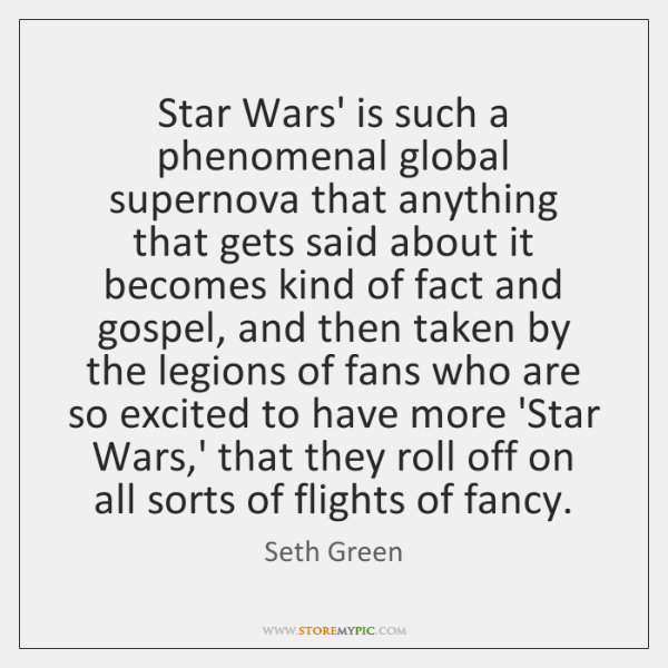 Star Wars' is such a phenomenal global supernova that anything that gets ...