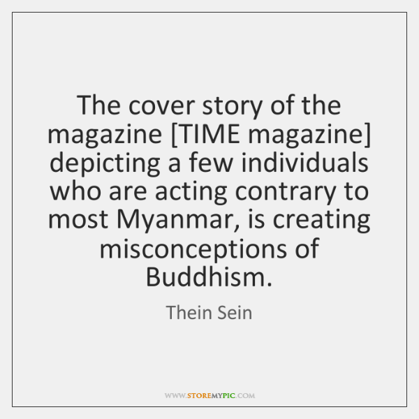 The cover story of the magazine [TIME magazine] depicting a few individuals ...