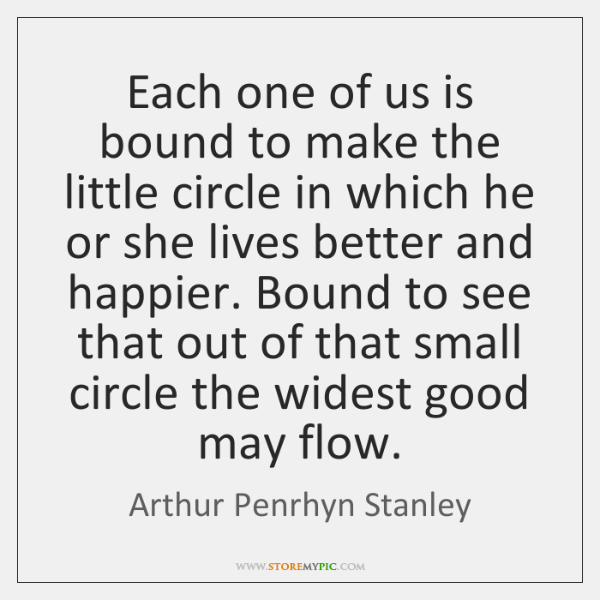 Each one of us is bound to make the little circle in ...