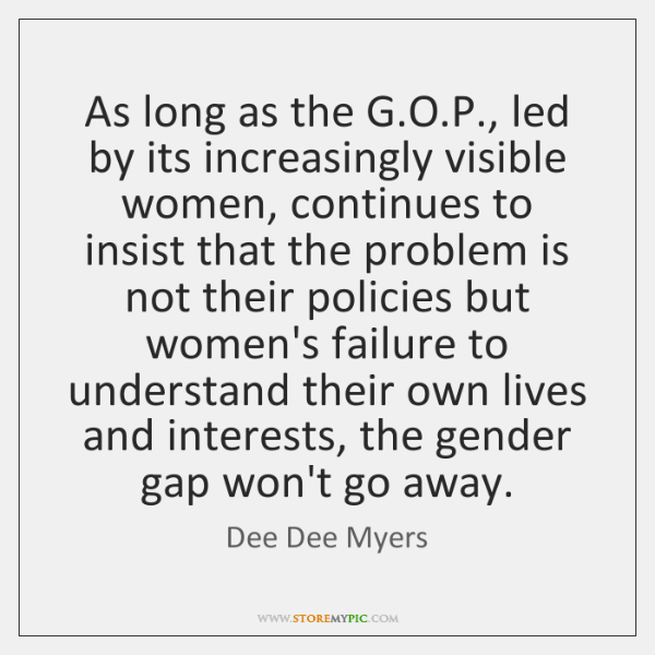 As long as the G.O.P., led by its increasingly visible ...
