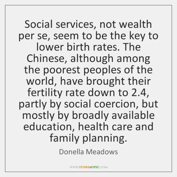 Social services, not wealth per se, seem to be the key to ...