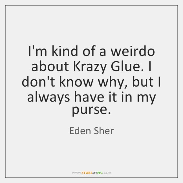 I'm kind of a weirdo about Krazy Glue. I don't know why, ...