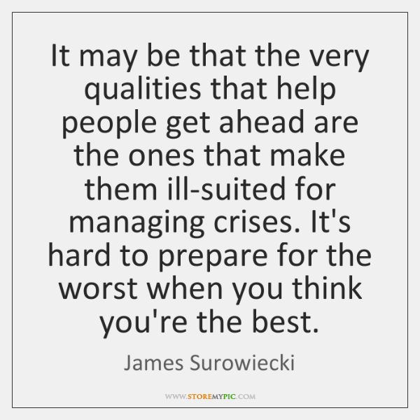 It may be that the very qualities that help people get ahead ...