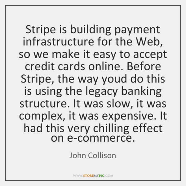 Stripe is building payment infrastructure for the Web, so we make it ...