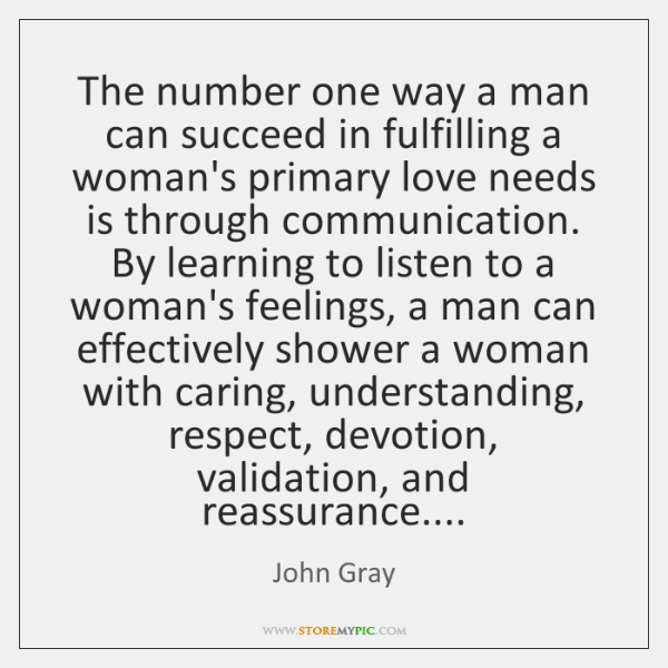 The number one way a man can succeed in fulfilling a woman's ...