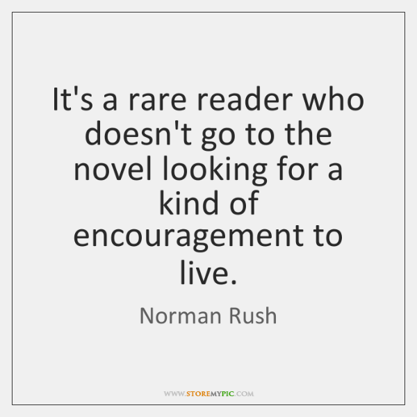 It's a rare reader who doesn't go to the novel looking for ...