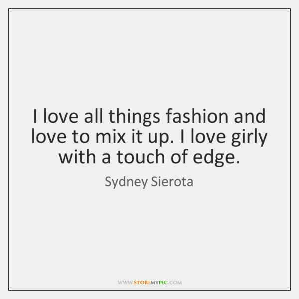 I love all things fashion and love to mix it up. I ...
