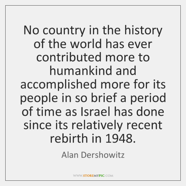 No country in the history of the world has ever contributed more ...