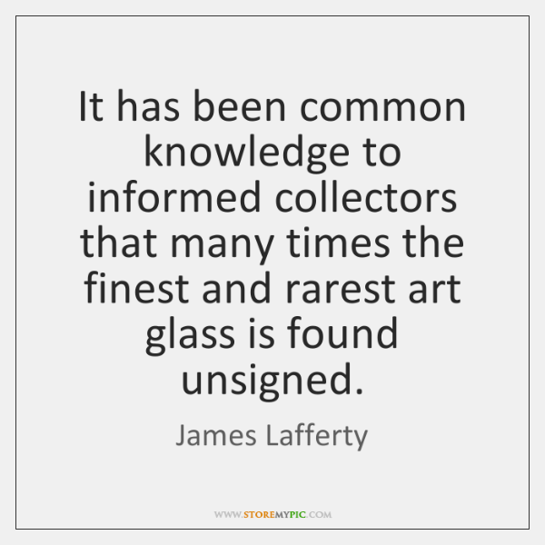 It has been common knowledge to informed collectors that many times the ...