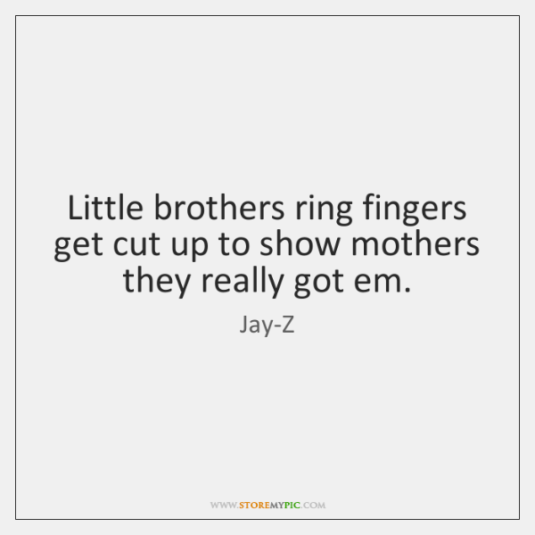 Little brothers ring fingers get cut up to show mothers they really ...