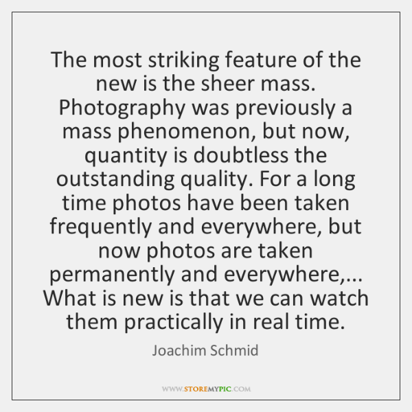 The most striking feature of the new is the sheer mass. Photography ...