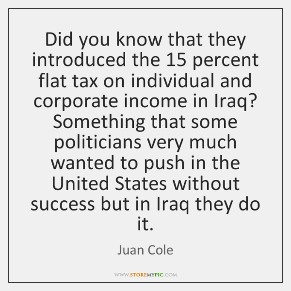 Did you know that they introduced the 15 percent flat tax on individual ...