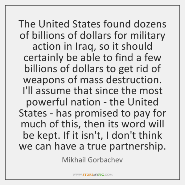 The United States found dozens of billions of dollars for military action ...