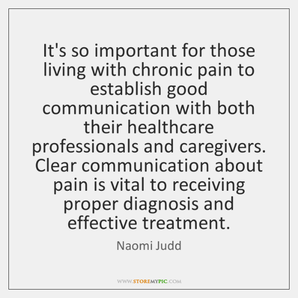 It's so important for those living with chronic pain to establish good ...