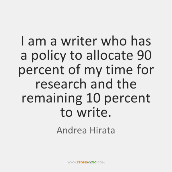 I am a writer who has a policy to allocate 90 percent of ...