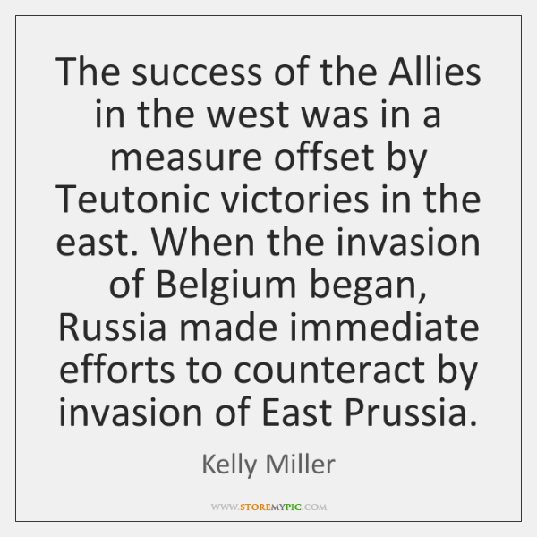 The success of the Allies in the west was in a measure ...
