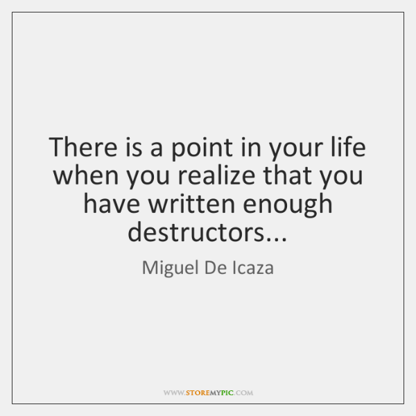 There is a point in your life when you realize that you ...