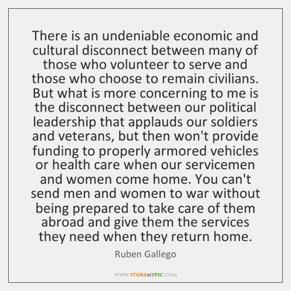There is an undeniable economic and cultural disconnect between many of those ...