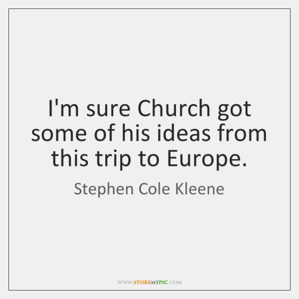 I'm sure Church got some of his ideas from this trip to ...