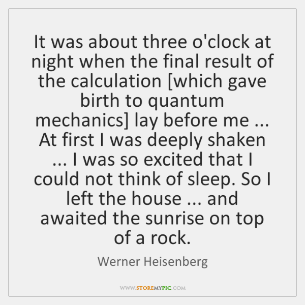 It was about three o'clock at night when the final result of ...
