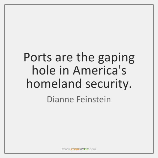 Ports are the gaping hole in America's homeland security.