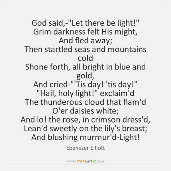 God said,-