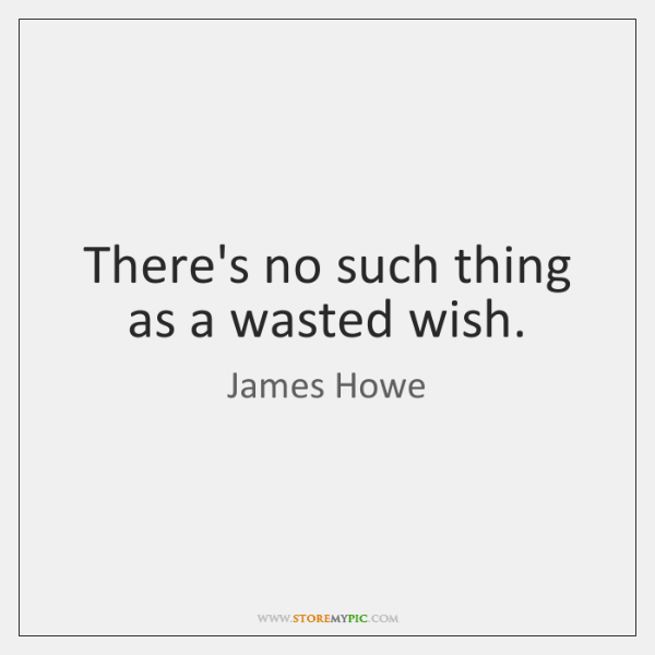 There's no such thing as a wasted wish.