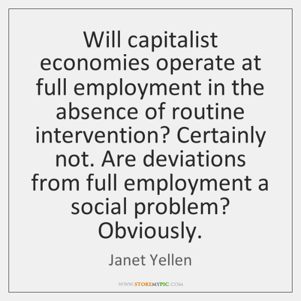 Will capitalist economies operate at full employment in the absence of routine ...