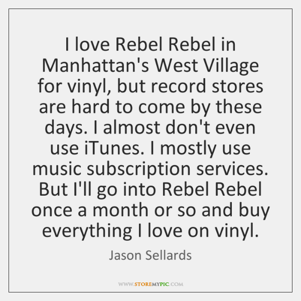I love Rebel Rebel in Manhattan's West Village for vinyl, but record ...