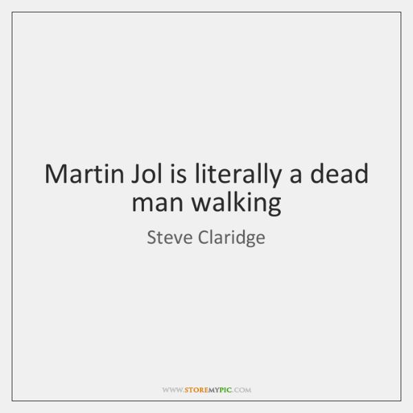 Martin Jol is literally a dead man walking