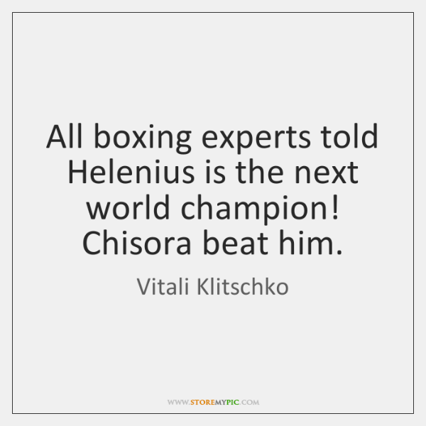 All boxing experts told Helenius is the next world champion! Chisora beat ...