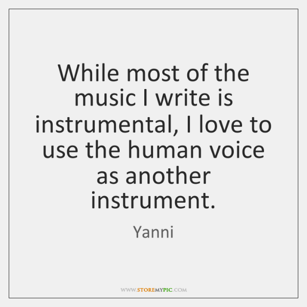 While most of the music I write is instrumental, I love to ...