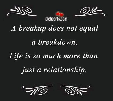 A breakup does not