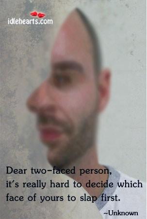 Dear tow faced
