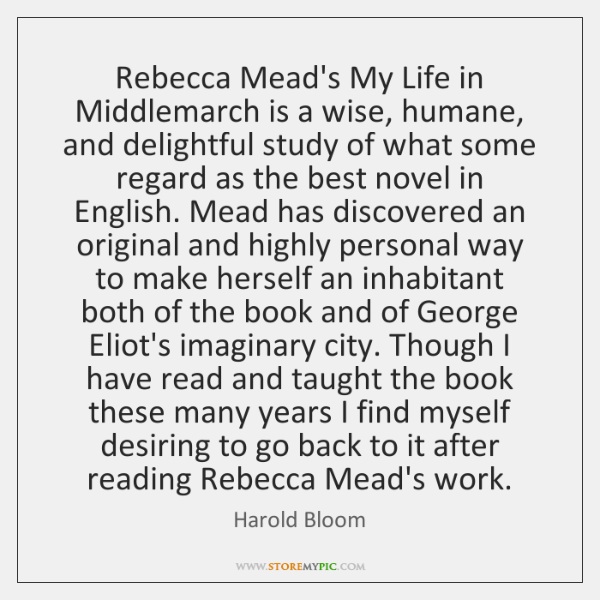 Rebecca Mead's My Life in Middlemarch is a wise, humane, and delightful ...