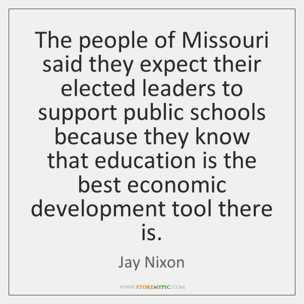 The people of Missouri said they expect their elected leaders to support ...