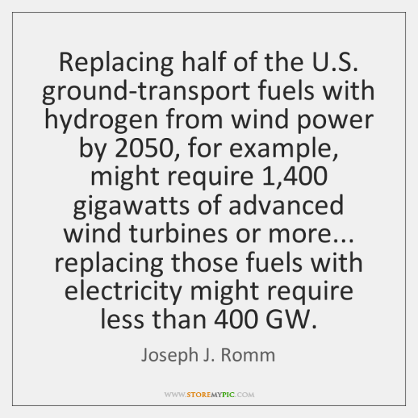 Replacing half of the U.S. ground-transport fuels with hydrogen from wind ...
