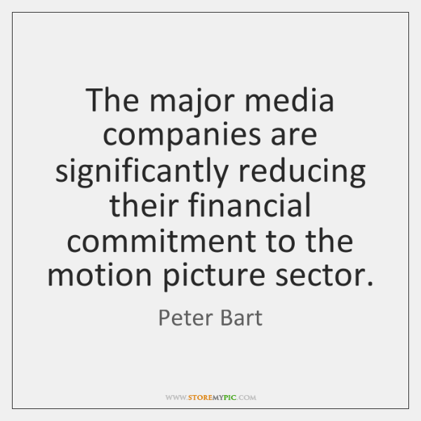 The major media companies are significantly reducing their financial commitment to the ...