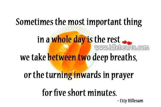 Two deep breaths